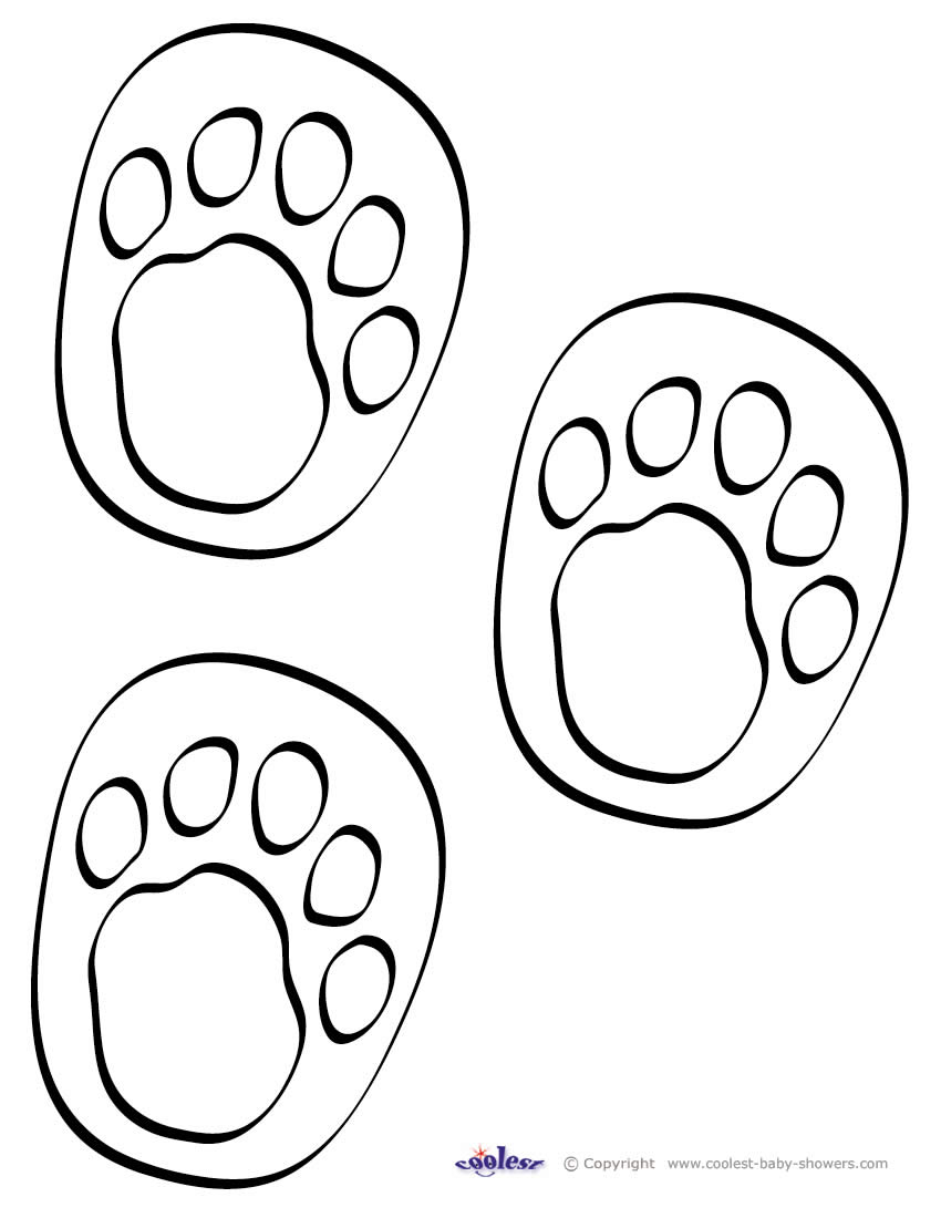 Printable Footprints ClipArt