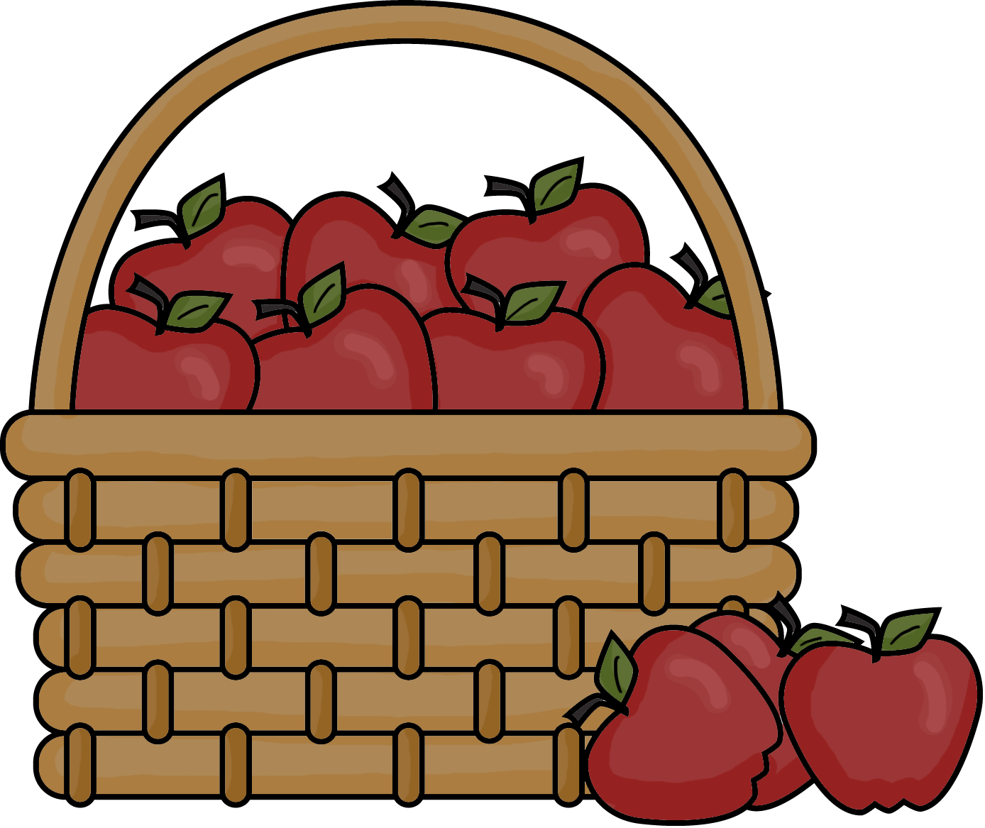 ... Cartoon Pictures Of Green Red Apples In A Basket - ClipArt Best