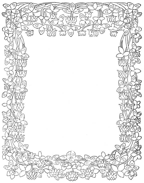 printable borders and frames coloring pages