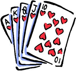 Hand of playing cards free clipart clipart best