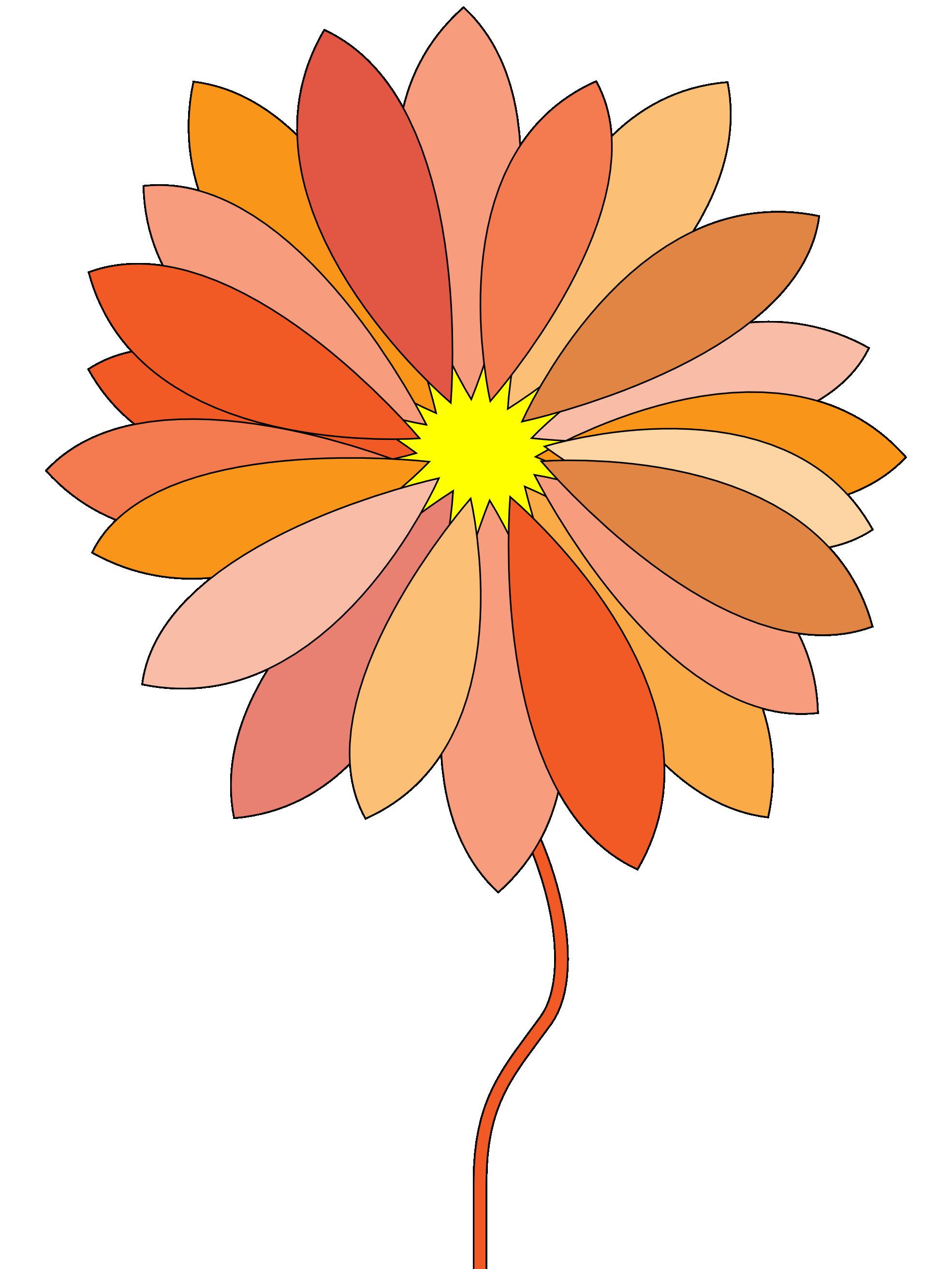tecknade blommor