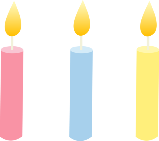 Coloured Birthday Cake Candles