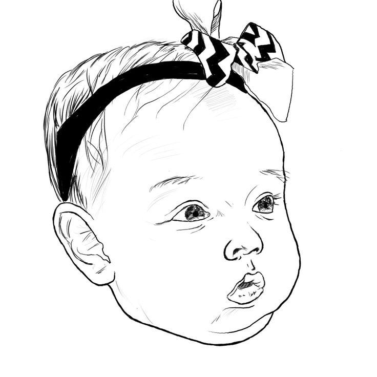 Line Art Digital : Line drawing for digital portrait clipart best