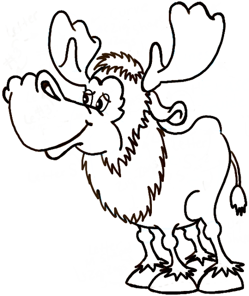 How to draw a moose step by step clipart best for How to draw a moos