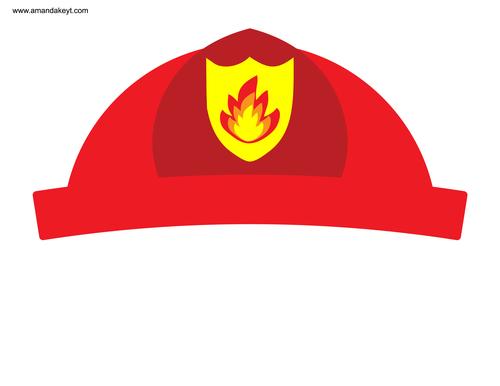 fireman hat printable clipart best
