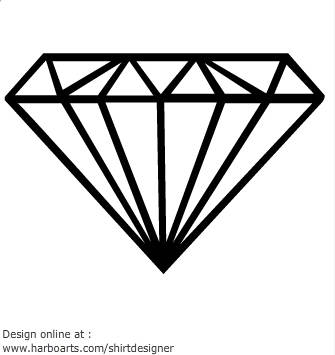 Diamond Outline Clip Art - ClipArt Best