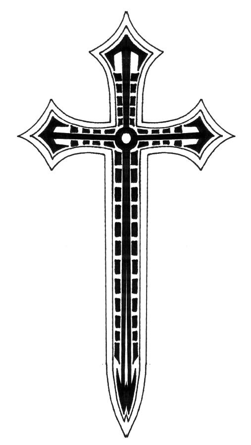 Cross designs art clipart best for Crossed swords tattoo