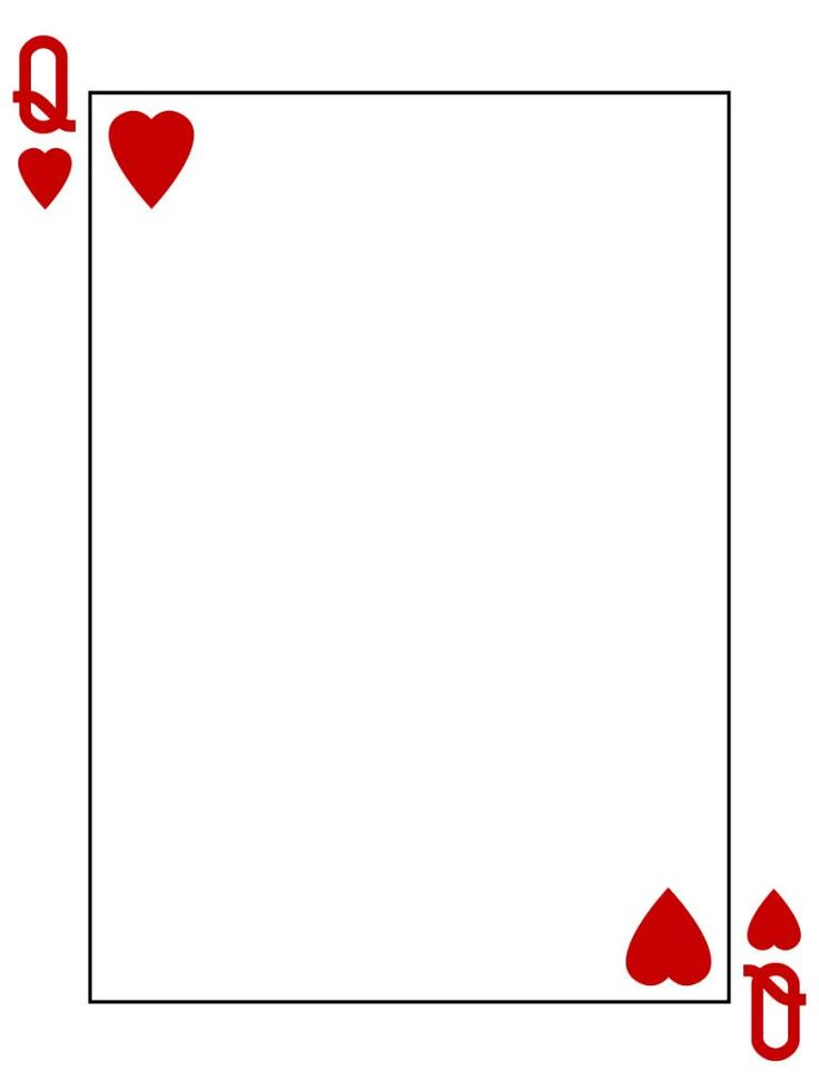 of hearts card template clipart best