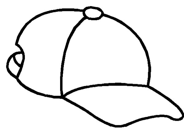 how to draw a baseball cap