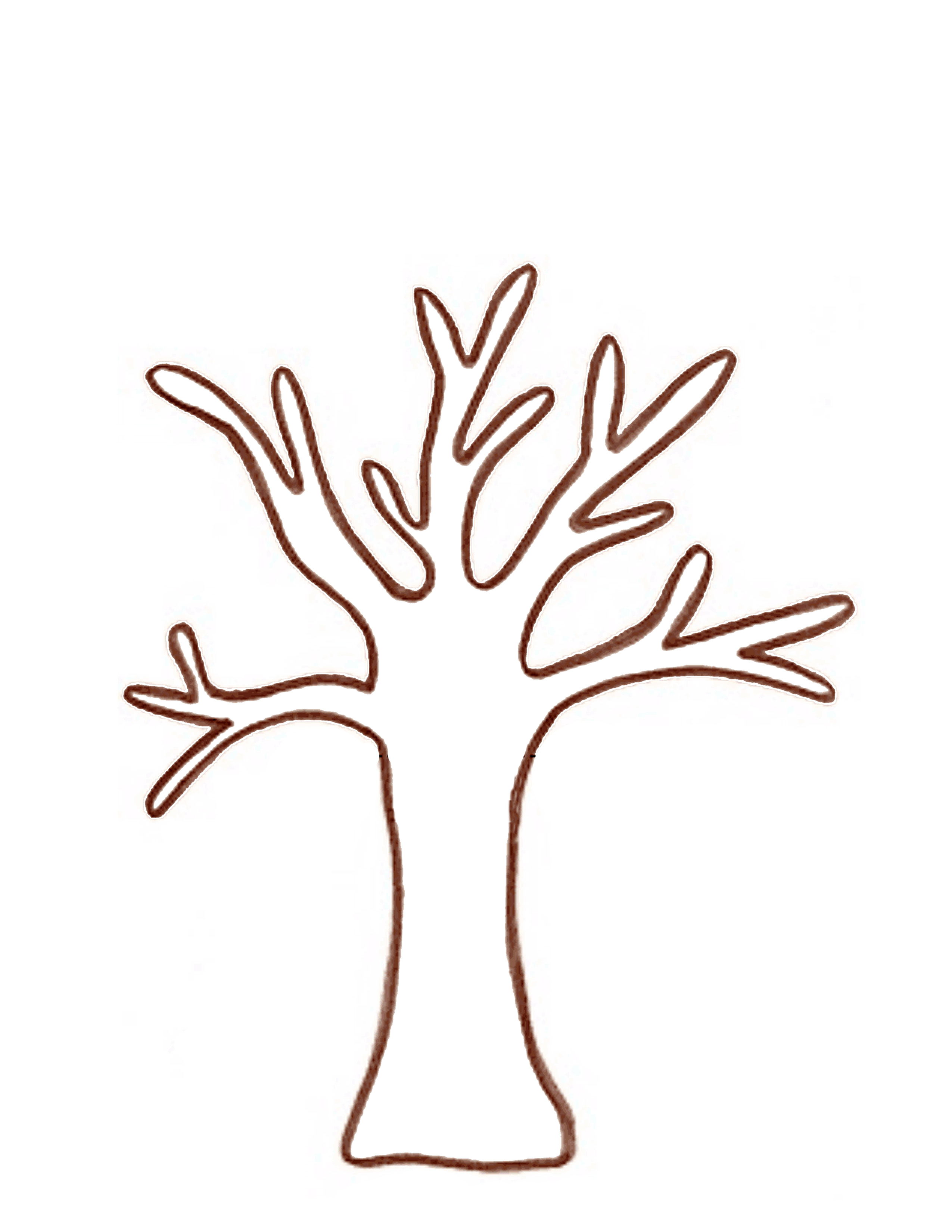 Best Photos of Tree Trunk Outline - Tree with Branches Clip Art ...