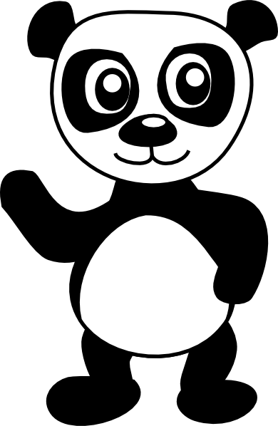 panda bear outline clipart best panda bear clip art free panda bear clip art and coloring pages