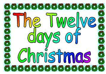 12 Days Of Christmas Clip Art Clipart Best