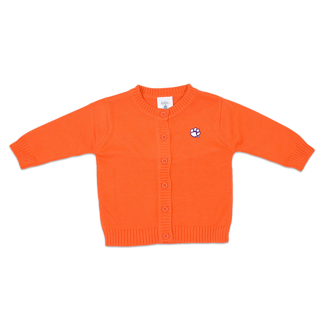 Clemson Tigers Orange Toddler Cardigan Sweater