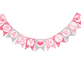 Baby Girl Banners Clipart