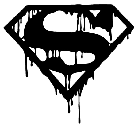 Black Superman Logo Wallpaper Superman Logo Black And White