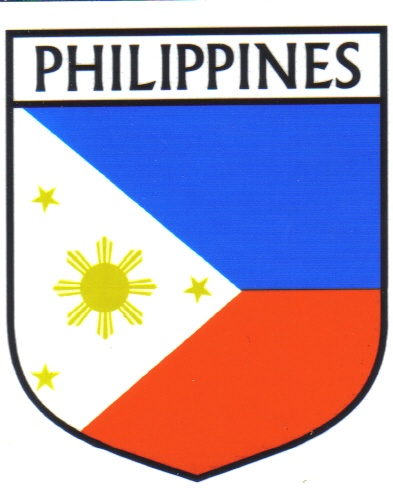 Philippines Flag Crest Decal Sticker, world flags decals, world ...