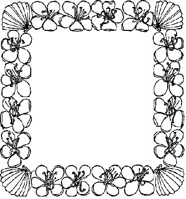 coloring border pages for kids | FLOWER BORDER PAGES Colouring Pages - ClipArt Best ...