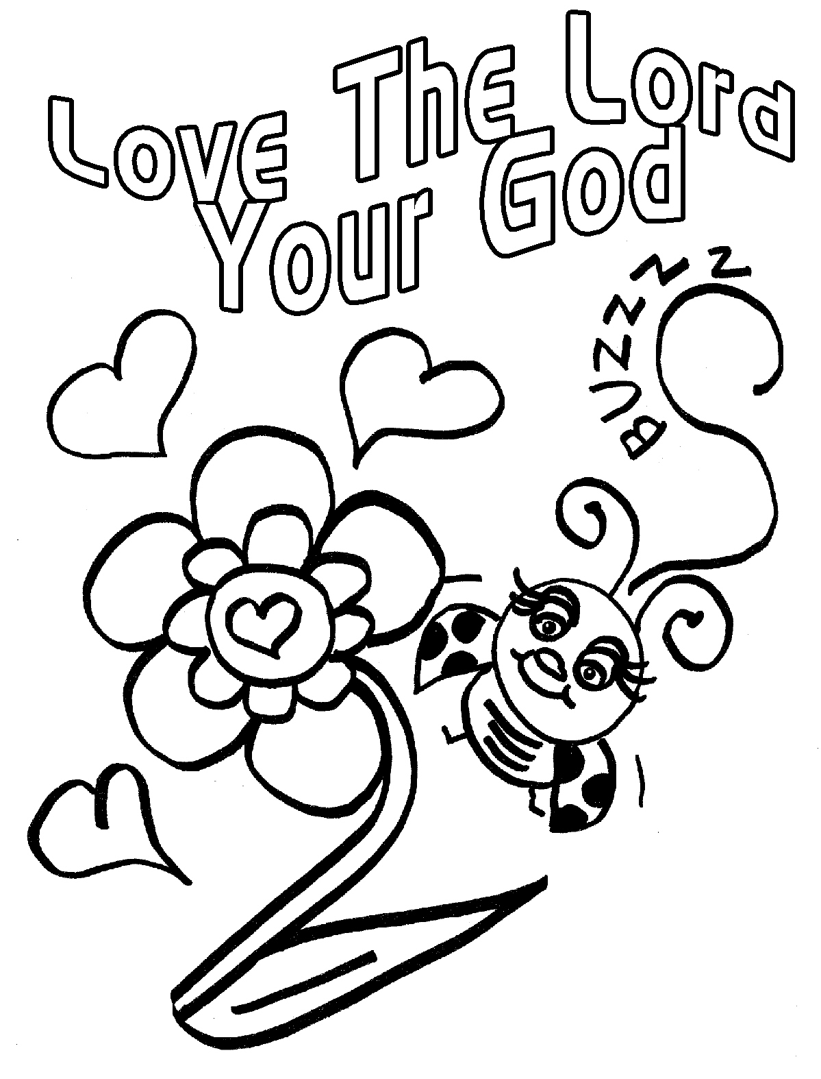 love god coloring pages - photo#2