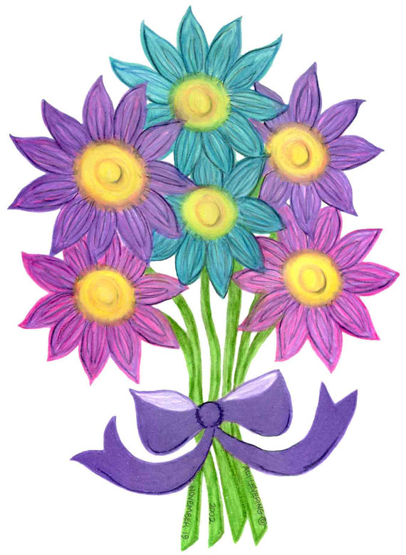 free clipart bouquet of flowers - photo #16