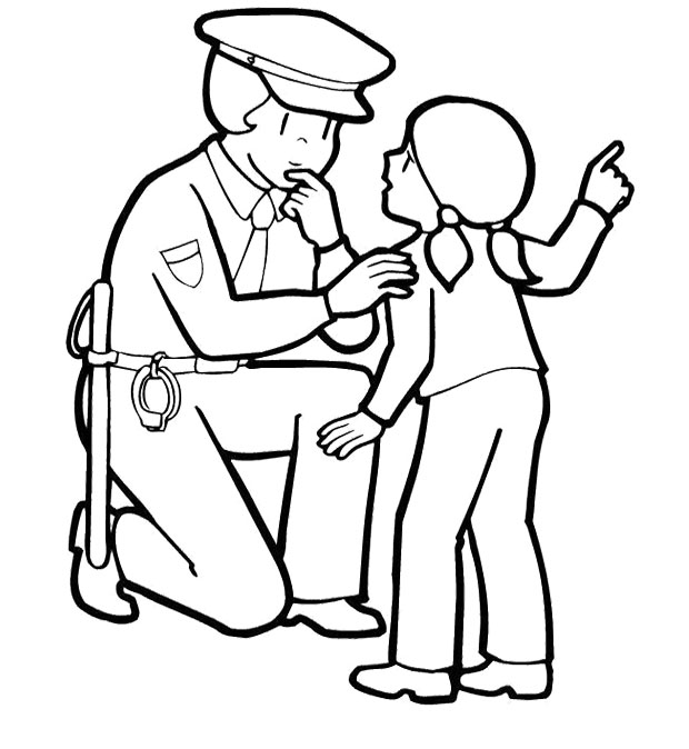 coloring pages of police officer - photo#3