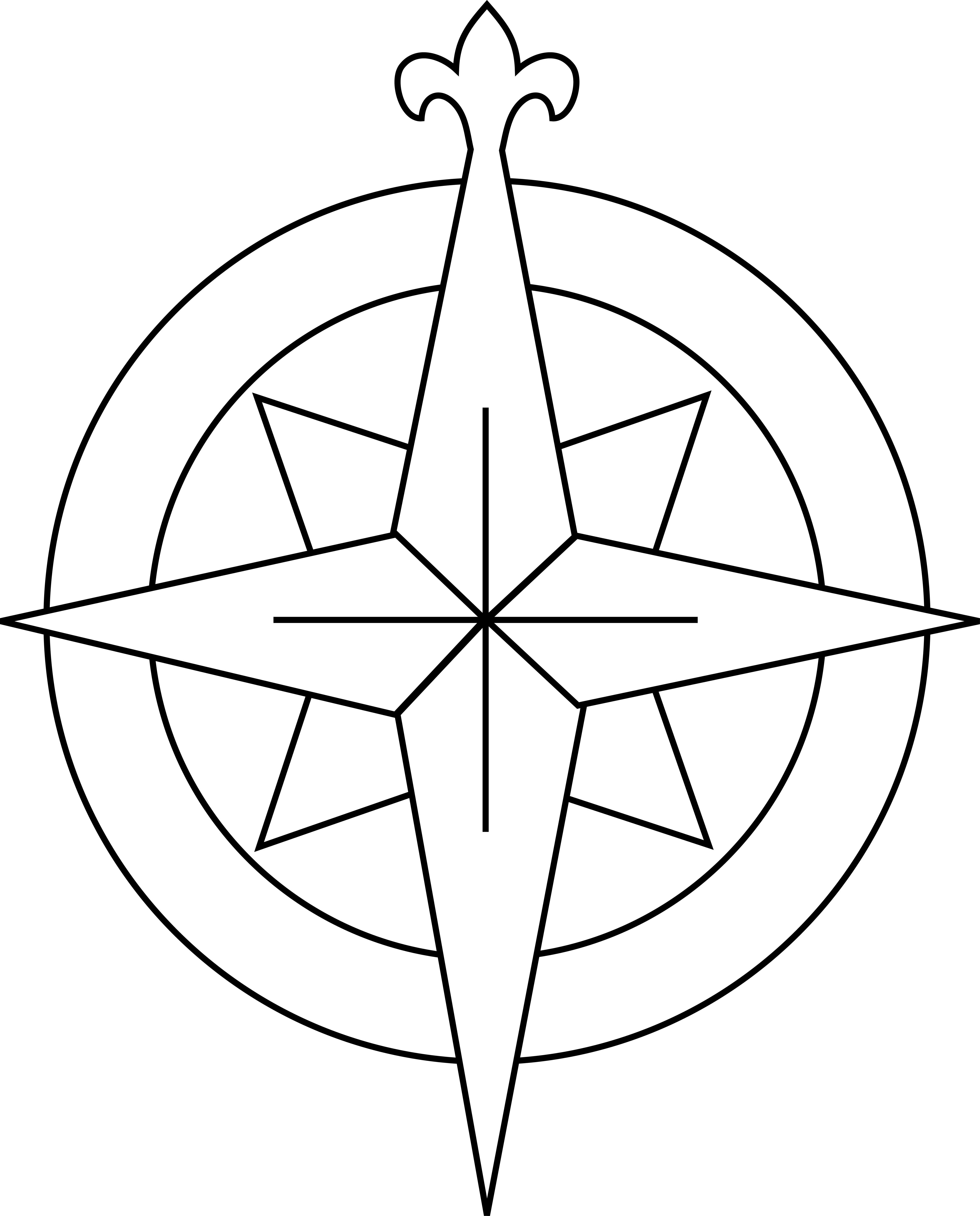 Putty Line Drawing Q : Line drawing compass clipart best