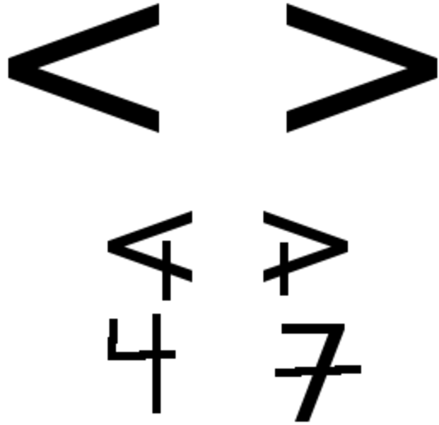 greater than and less than symbols . Free cliparts that you can ...