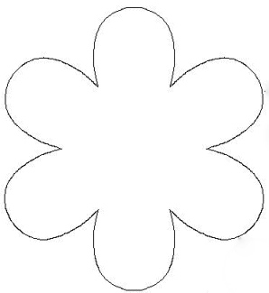 Paper flower template clipart best for Flower template 5 petals