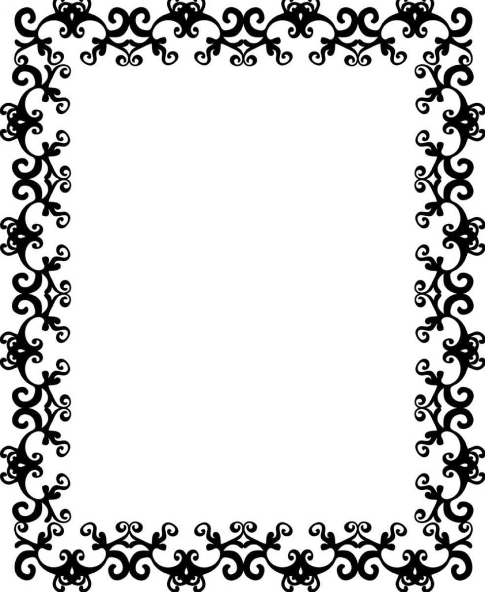 Black And White Flower Border - ClipArt Best