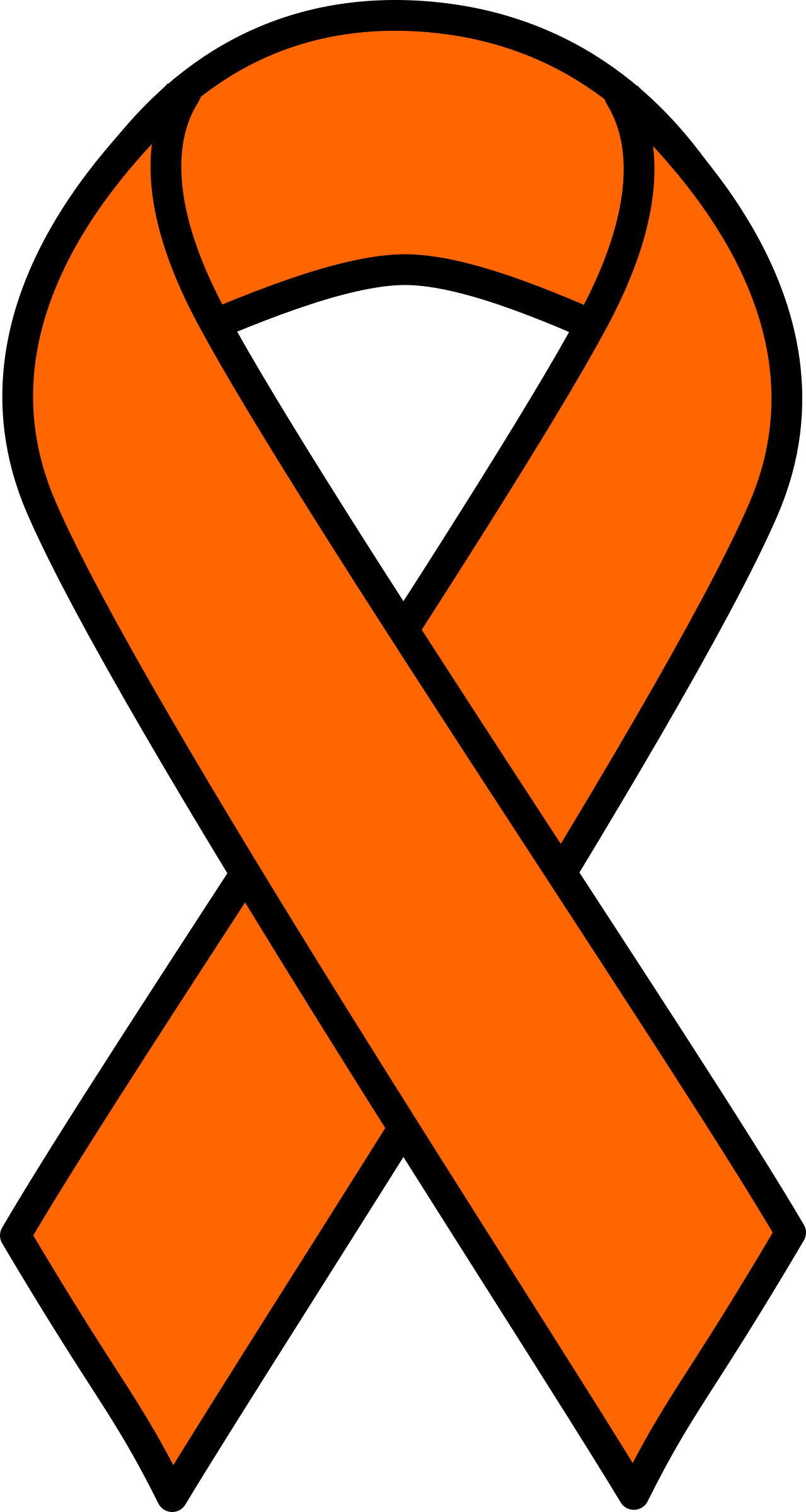 orange ribbon clipart best free awareness ribbon clipart free awareness ribbon clipart