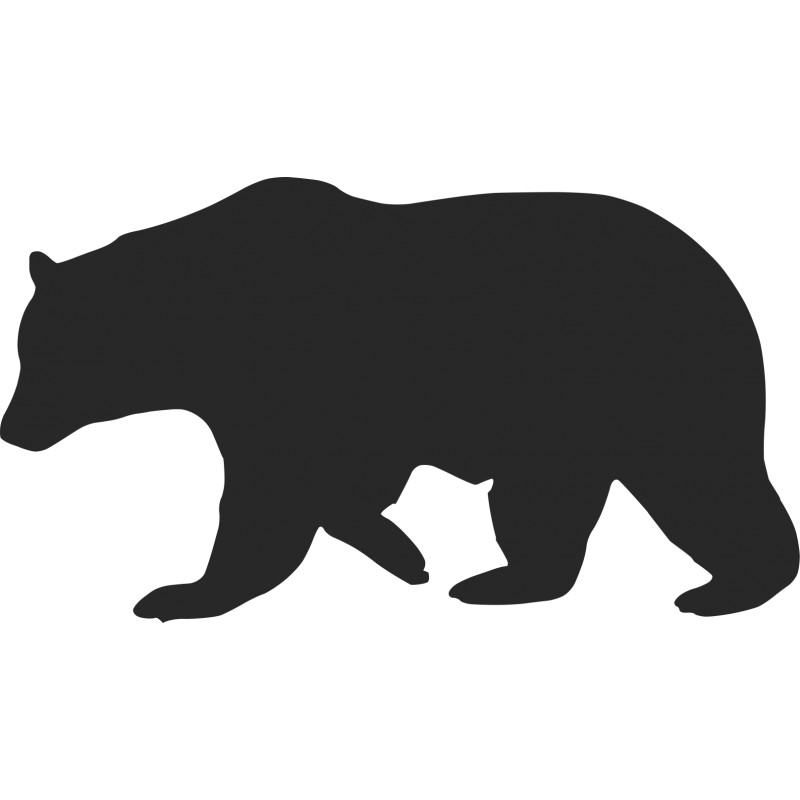 Grizzly Bear Outline - ClipArt Best