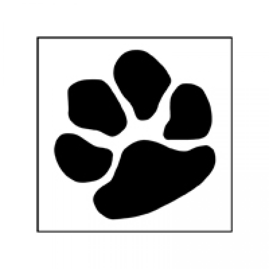 tiger paw template - printable dog paw print stencil clipart best