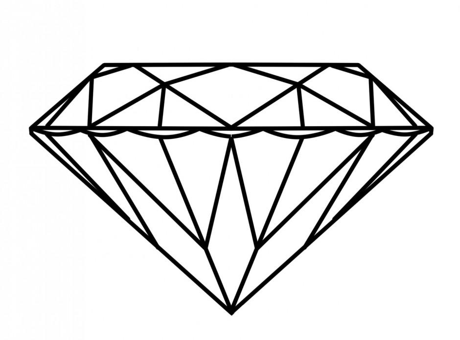 Cartoon Diamond Outline