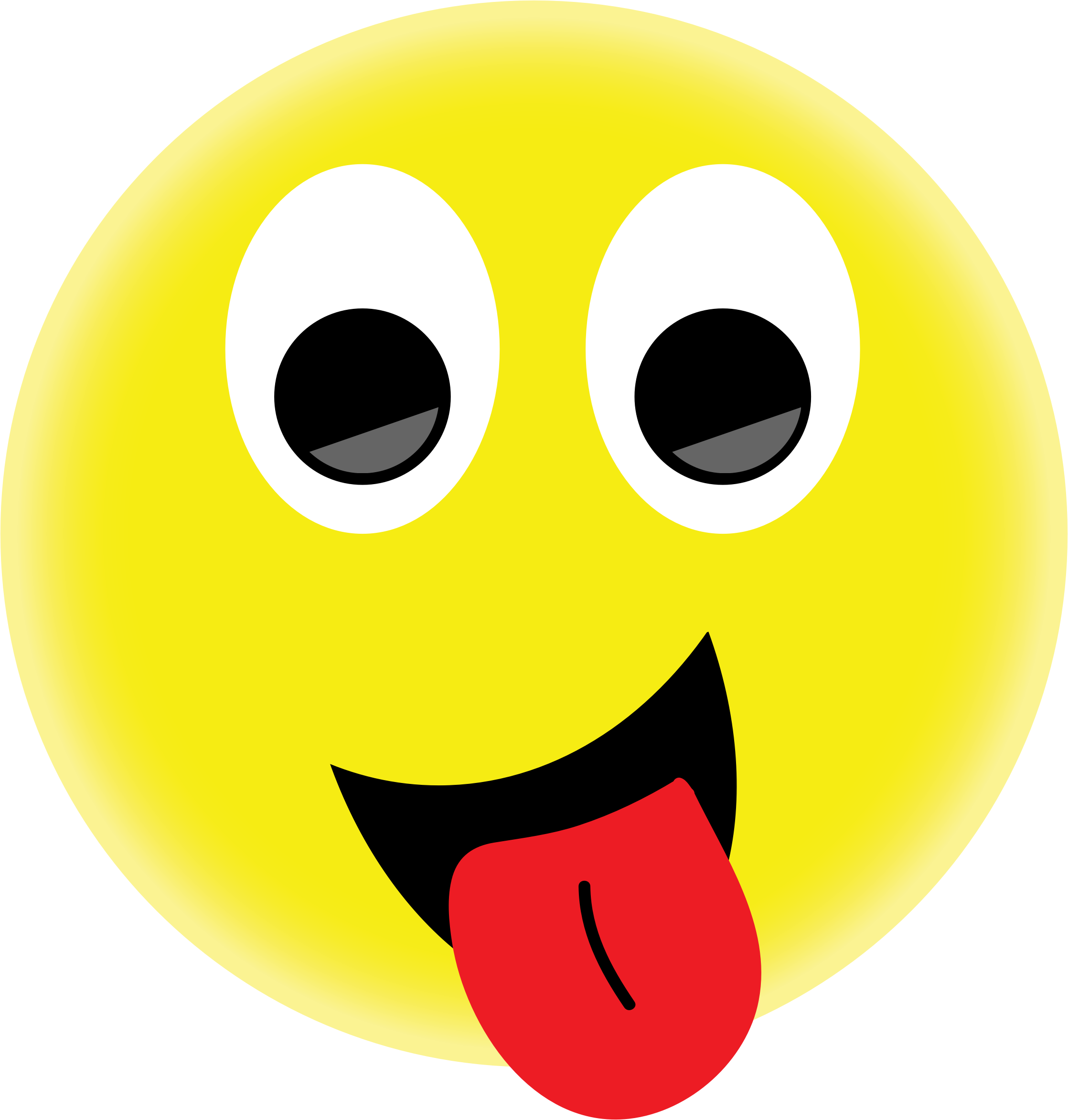 Clipart smiley face with tongue out