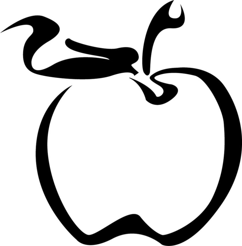 Line Drawing Apple : Apple picture drawing clipart best