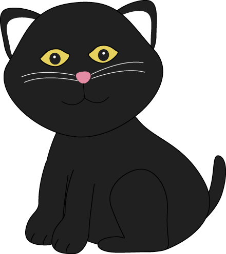 Cute Halloween Black Cat Clip Art Cute Halloween Black Cat Image ...