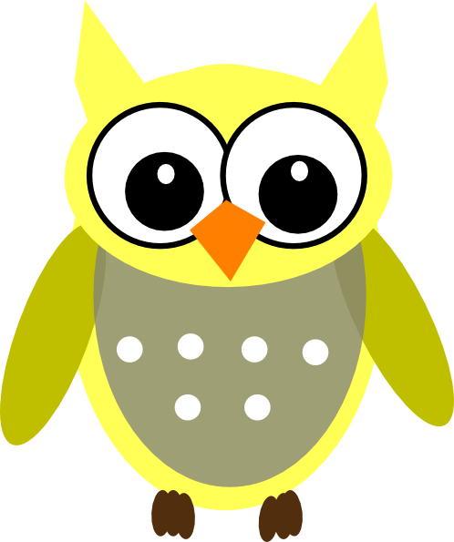 Baby Yellow Owl clip art - vector clip art online, royalty free ...