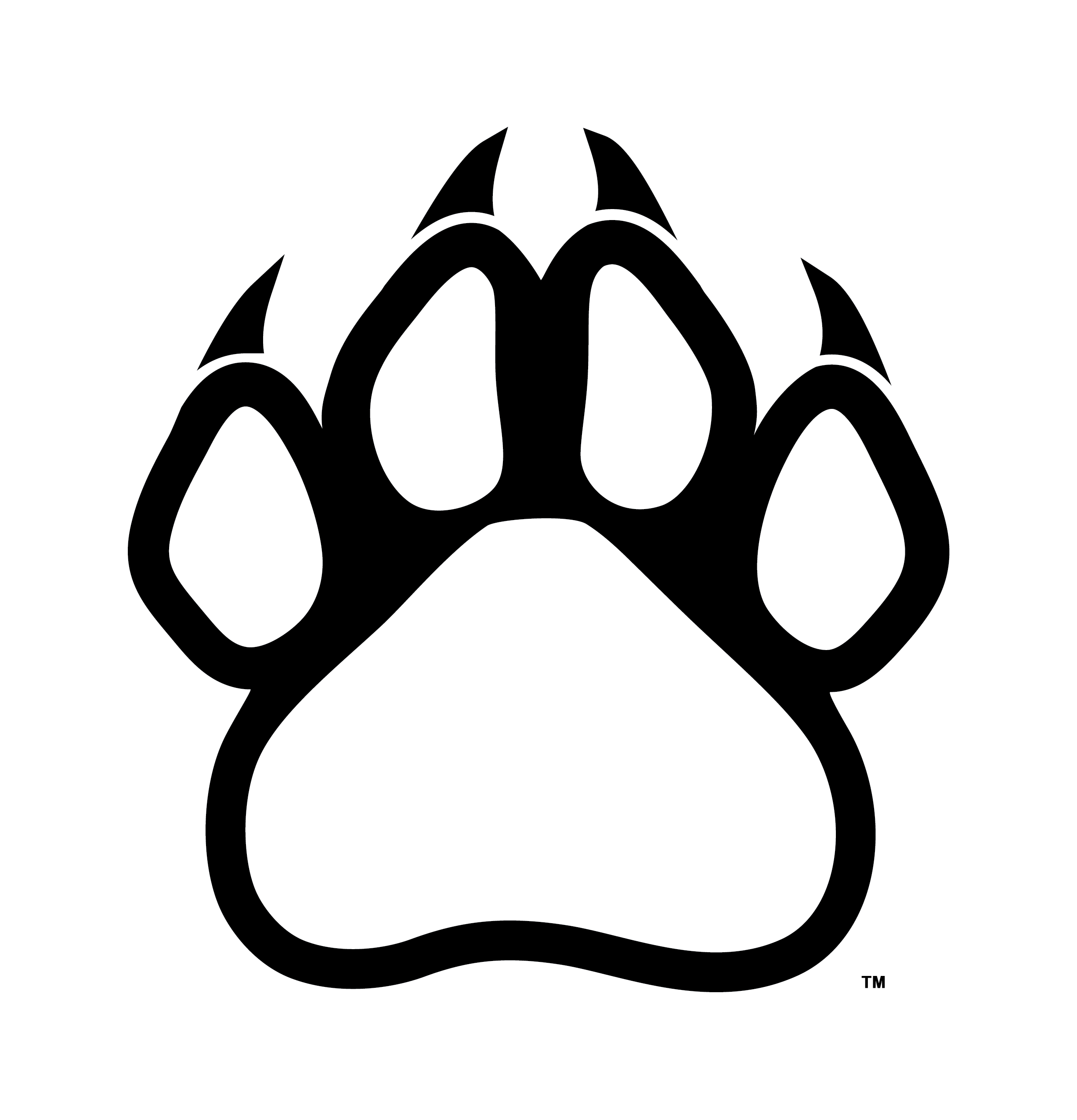 panther paw prints clipart best