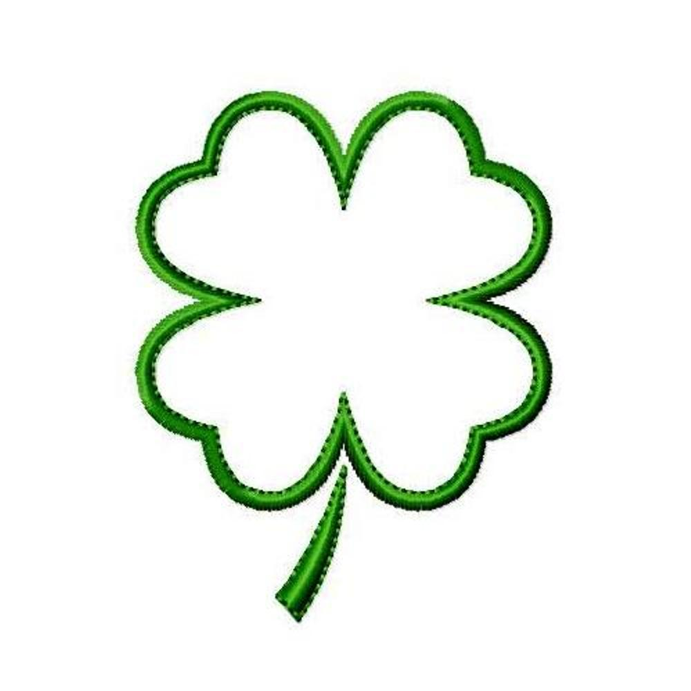 Comprehensive image with printable four leaf clover