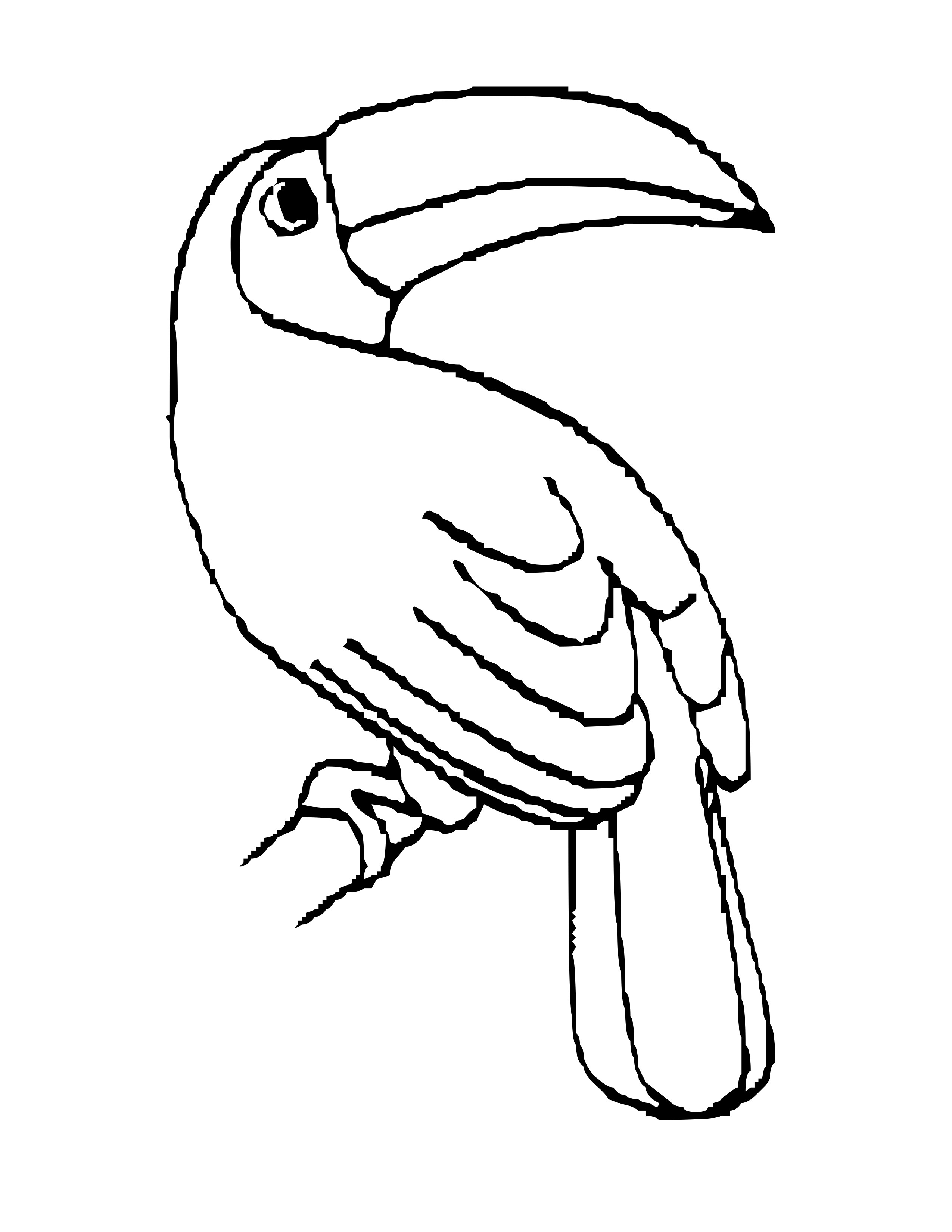 Line Drawings Of Rainforest Animals : Toucan outline clipart best