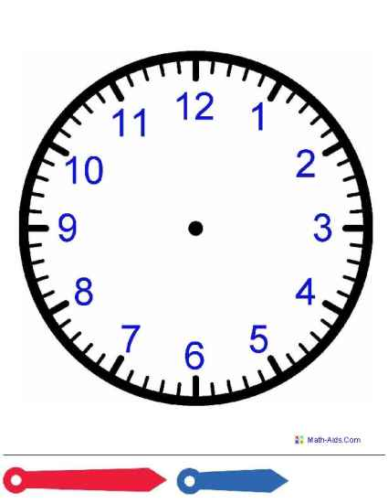 Clock Face With Hands