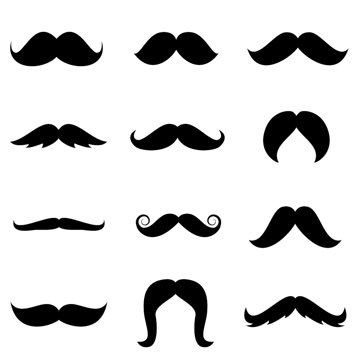 Mustache graphic clipart best for Mustach template