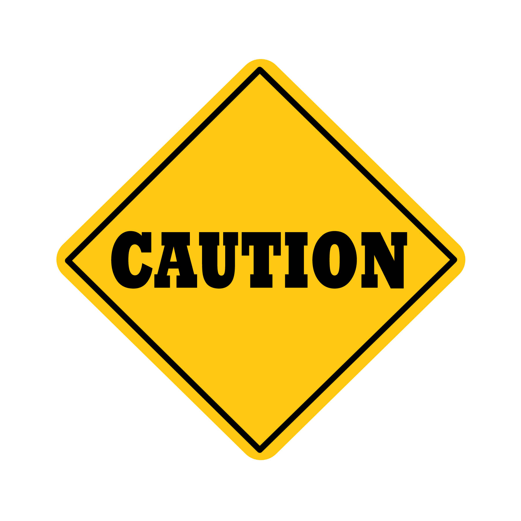blank caution sign clipart best