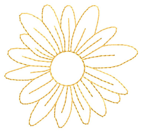 Outlines Embroidery Design Flower Outline From Grand Slam