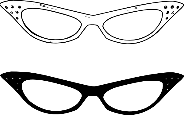 Retro Glasses SVG Downloads - Outline - Download vector clip art ...
