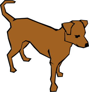 Dog 06 Drawn With Straight Lines clip art - vector clip art online ...