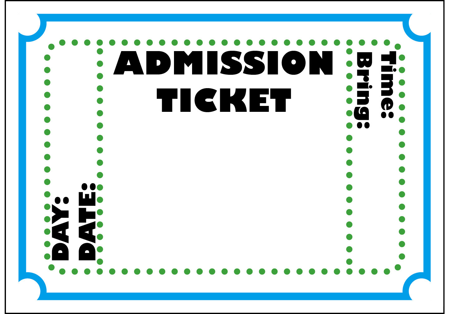 admit one ticket template search results calendar 2015