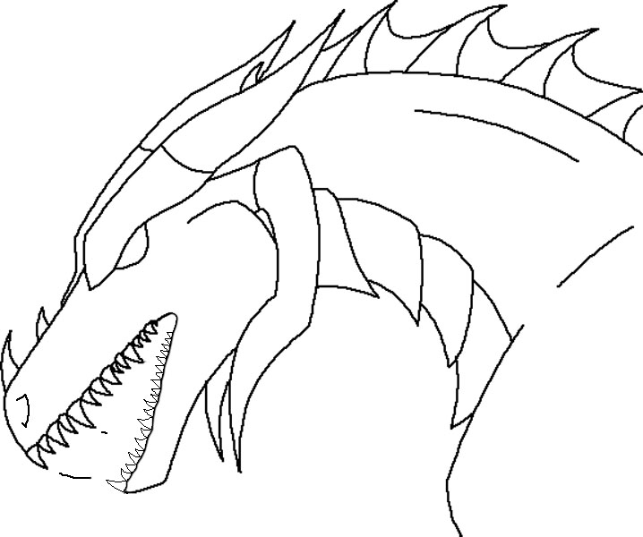 Easy Dragons Head Drawings - ClipArt Best