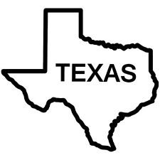 Texas State Outline Vinyl Car Decal Red 6 By 6