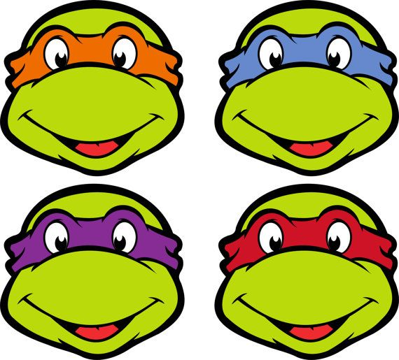 This is a photo of Ridiculous Ninja Turtle Masks Printable