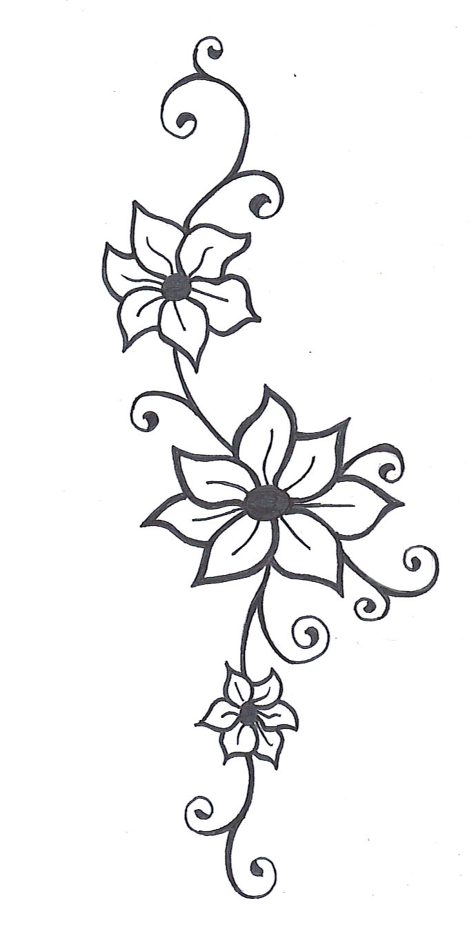 Flower Vine Line Drawing : Flowers vine for drawing clipart best